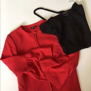 Red Jacket with Bell Sleeve